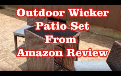 Giantex 3 PCS Cushioned Outdoor Wicker Patio Set from Amazon Review