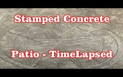 Backyard Patio Stamped Concrete Installed with Hot Tub – Timelapsed