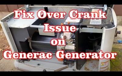Fix Over Crank issue with Generac Generator
