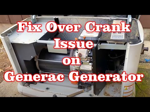 Fix Over Crank issue with Generac Generator