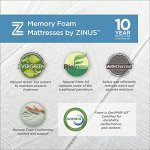 Zinus 12 Inch Gel-Infused Green Tea Memory Foam Mattress, Queen