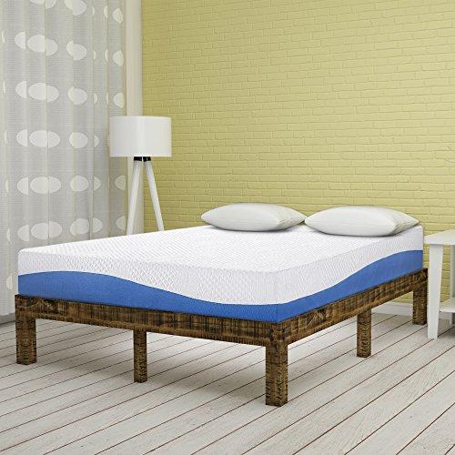 Olee Sleep 10 Inch Gel Infused Layer Top Memory Foam Mattress Blue, Twin