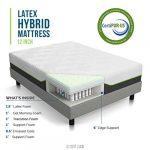 LUCID 12 Inch Queen Latex Hybrid Mattress – Memory Foam – Responsive Latex Layer – Premium Steel Coils – Medium Firm Feel – Temperature Neutral