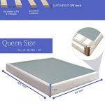 Nutan 10-Inch Pocketed Coil Rolled Medium Plush Mattress and 8″ Easy Wood Box Spring with Simple Assembly, Beige