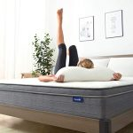Sweetnight 10 Inch Queen Mattress in a Box – Sleep Cooler with Euro Pillow Top Gel Memory Foam, IndividuallyPocket Spring Hybrid Mattresses for Motion Isolation, CertiPUR-US Certified, Queen Size