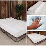 CLZ 10-inch Memory Foam Mattress Queen,Cool Gel Memory Foam Mattress with 2 Pillows (Full Size) White,Queen Size