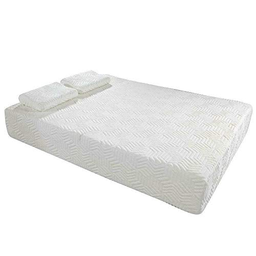 Hypeshops Traditional Firm Memory Foam Mattress Bed 10″ Full Size + 2 Free Gel Pillows