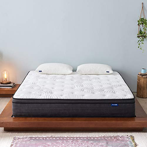 SweetnightFull Size Mattress- Full Mattressin a Box,12Inch PlushPillow TopGel Memory FoamHybrid Mattress with Motion Isolating Individually Wrapped Coils, Bed Mattresses for Pressure Relief