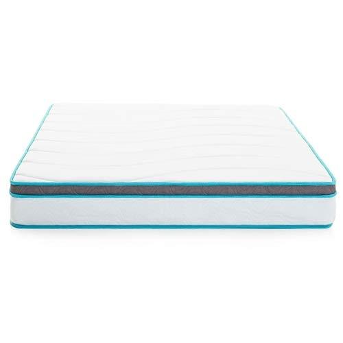 Twin Size 75 x 39 x 8 inches Memory Foam Innerspring Hybrid Mattress
