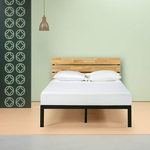 Zinus Paul Metal and Wood Platform Bed with Wood Slat Support, Queen & Ultima 10″; Comfort Memory Foam Mattress, Queen