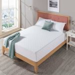 Zinus Vivek 12 Inch Deluxe Wood Platform Bed with Headboard/No Box Spring Needed/Wood Slat Support/Antique Espresso Finish, Queen & 12 Inch Gel-Infused Green Tea Memory Foam Mattress, Queen