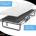 Roll Away Bed with Mattress for Adults Or Kids Heavy Duty – Memory Foam Mattress – Guest Bed Cot On Wheels – (Twin XL 36 x 78)