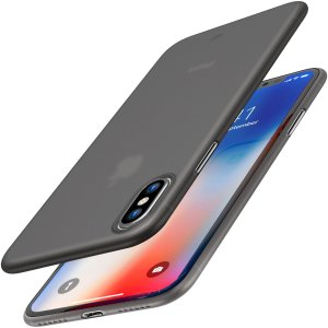 TOZO for iPhone X Case, Ultra Thin Hard Cover [0.35mm] World's Thinnest Protect Bumper Slim Fit PP Shell for iPhone 10 / X [ Semi-transparent ] Lightweight [Matte Black]
