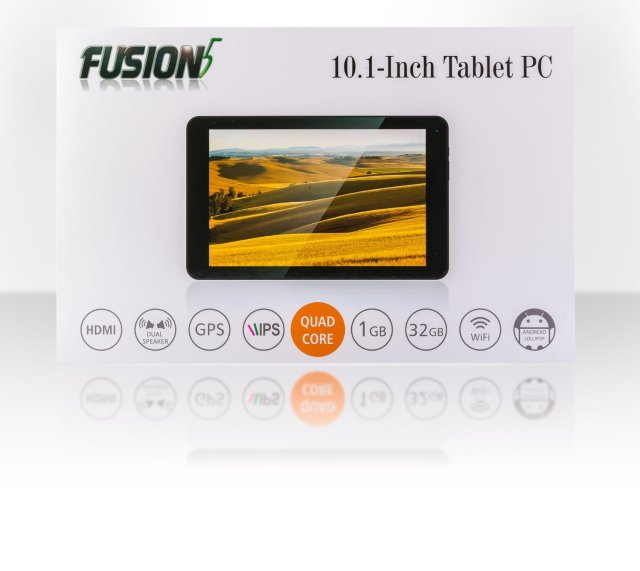 Fusion5 104 Android Tablet PC 10.1 inch, 32GB Storage, Google Android 5.1 Lollipop, Bluetooth 4.0, FM, 1280×800 IPS Screen, 5000mAh, 2MP Front and Rear camera, Supports OTA Updates