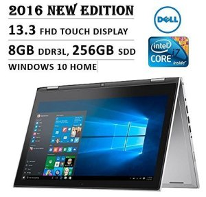 Dell Inspiron 13 7000 Series 13 inch 2-in-1 Convertible Tablet Laptop, IPS FHD Touchscreen, Intel Core i7-6500U Processor, 8GB RAM, 256GB SSD, Backlit Keyboard, Windows 10, Certified Refurbished