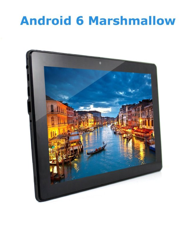 P10 10.1 inch Octa Core Android Tablet 32GB storage, 2GB RAM, 5.0 MP Camera and Google Android 6 Marshmallow, 1280x800 IPS Screen, 10 point Touch, Black, AmericanPumpkins