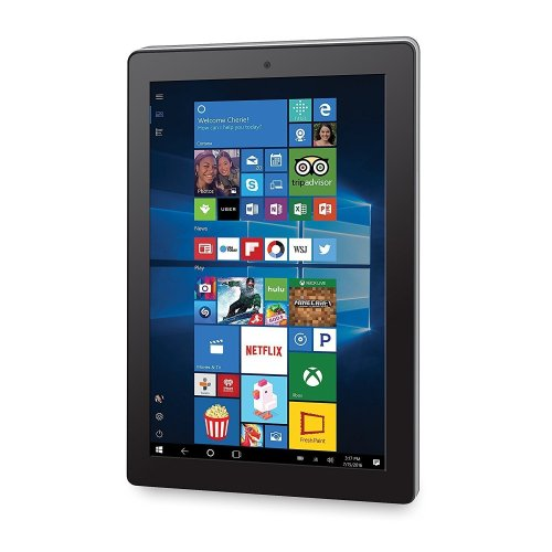 2018 RCA Cambio 10, 2-in-1 Tablet PC 10.1-inch Touchscreen, Intel Quad-Core Processor, 2GB RAM, 32GB SSD, Detachable Keyboard, Webcam, WIFI, Bluetooth, Windows 10, Black