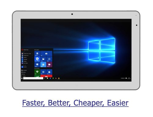 2018 vitalASC 2-in-1 Tablet Laptop Windows 10, 11.6-inch IPS, Intel Atom X5 8350, RAM 4GB, 32GB Nand Flash, GPS, Windows Tablet PC
