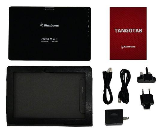 [3 Bonus item] Simbans TangoTab 10 Inch Tablet 2GB RAM + 32GB Disk Android 7.0 Nougat, 10.1 Inch IPS screen, Quad Core, HDMI, 2 + 5 MP Camera, GPS, WiFi, USB, Bluetooth - 2018 Edition PC Computer