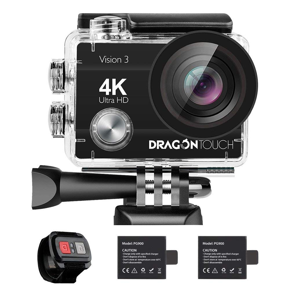 2018 Dragon Touch 4K Action Camera 16MP