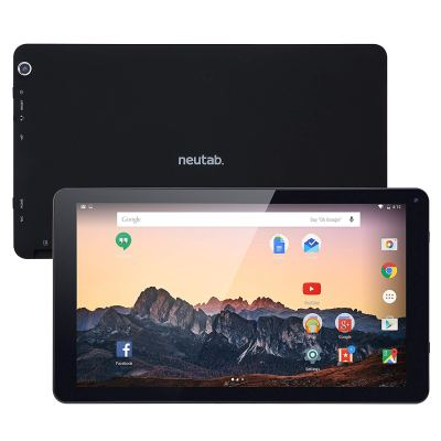 2018 NeuTab 10 Inch Android Tablet Android 7.1 Nougat System Quad-Core 1GB RAM 16GB Storage Bluetooth 4.0 GPS Supported (GMS, FCC Certified)