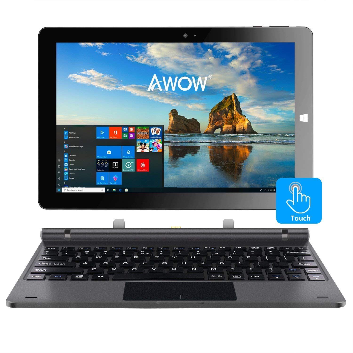 Touch Screen 10 Inch Windows Tablet 2in1 Tablet Laptop