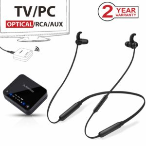 Avantree HT4186 Bluetooth Earphones and Bluetooth Transmitter SET