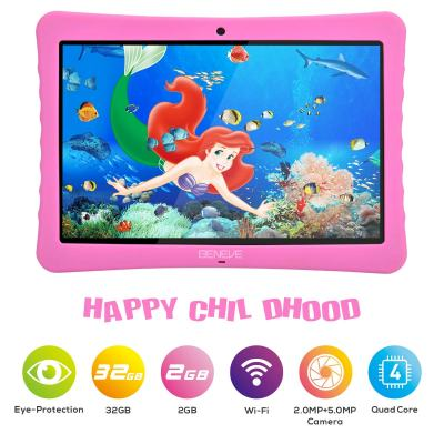 BENEVE 10-inch Kids Tablet 1080p Full HD Display, Google Android 7.0, 2GB RAM
