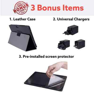 [3 Bonus Item] Simbans ExcelloTab 10-inch Tablet 2020 Model