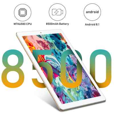 DUODUOGO 10-inch Phone Tablet Android 8.1, 2 in 1 Tablet PC