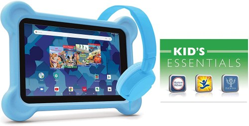 RCA 10-inch Kids Tablet with Bumper case and Headphones, Blue