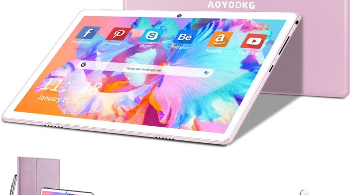 AOYODKG 10-inch Phone Tablet, HD Touchscreen 2-in-1 Tablet with Keyboard Case