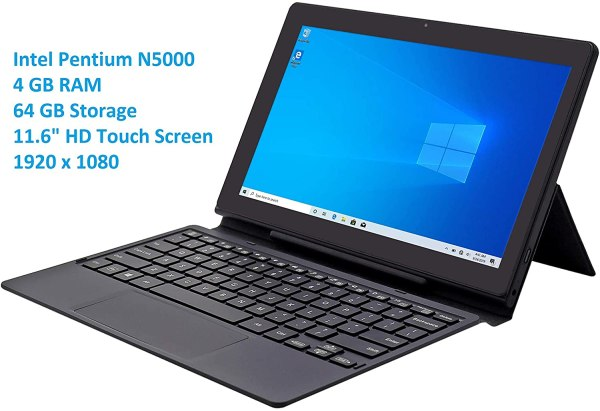 Venturer 11.6-inch 2-in-1 Windows Tablet PC with Keyboard