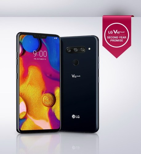 LG V40 ThinQ LMV405UA 64GB Aurora Black, 6.4-inch