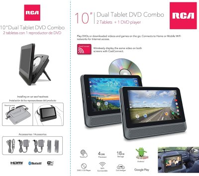 RCA Dual 10-inch Android Tablet and DVD Player Combo