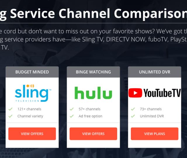 Hulu Tv Channel Comparison
