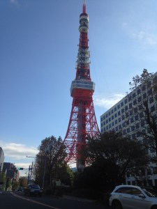 Tokyo tower while walking towards the One Piece museum