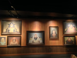 Portraits of Garp, Ace, Ace's Mother, Gol D Roger, Dragon, Whitebeard hung on the wall