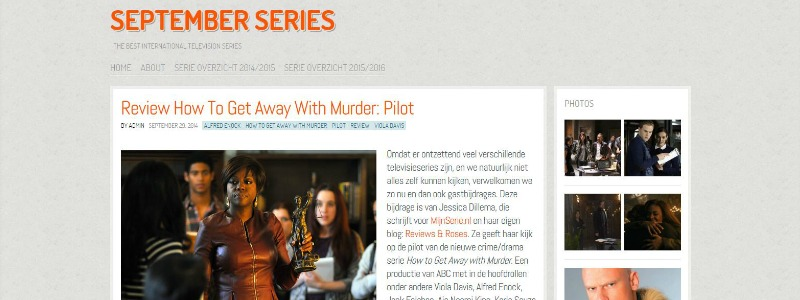 Gastrecensie September Series How to Get Away with Murder