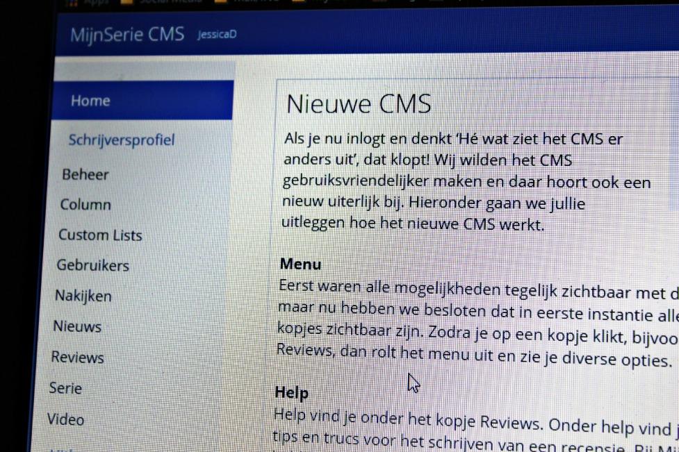 Het nieuwe CMS van MijnSerie
