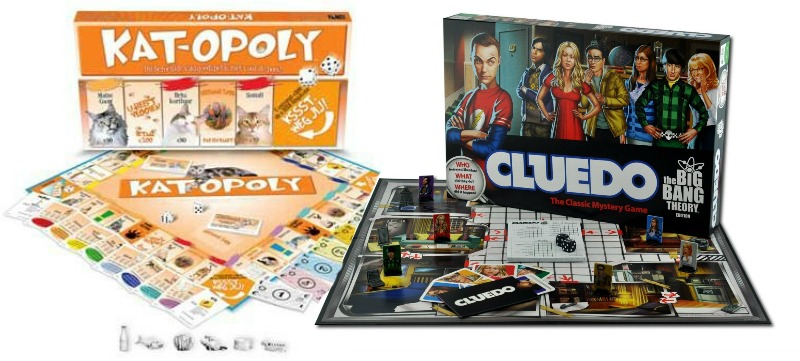 Kat-opoly en The Big Bang Theory Cluedo