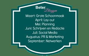Beter Bloggen Challenge Planning