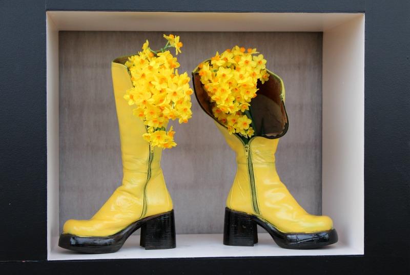 Keukenhof - Gele bloem in laars