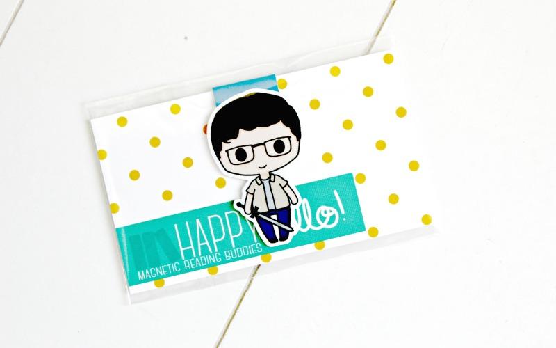 Magnetische boekenlegger Happy Hello
