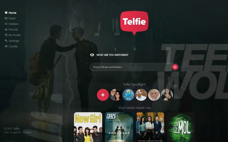 Telfie homepage