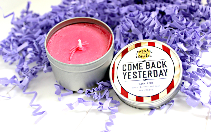 Exclusive Come Back Yesterday Candle