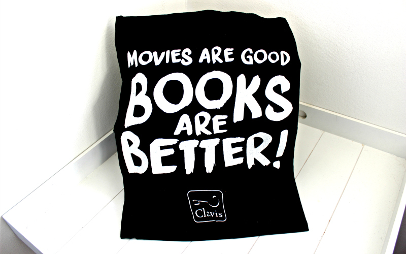 Clavis totebag Movies are good Books are better