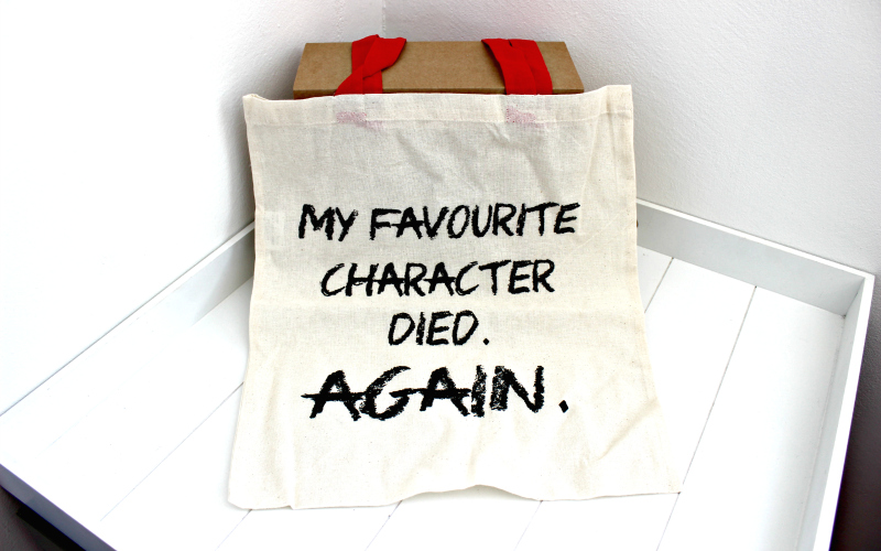 Totebag My Favourite Character died again