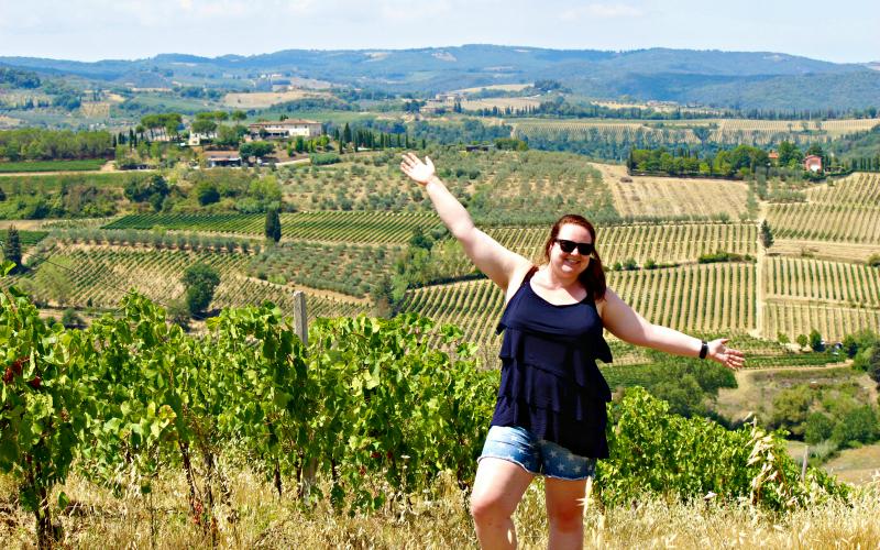 Jessica in Italie Toscane