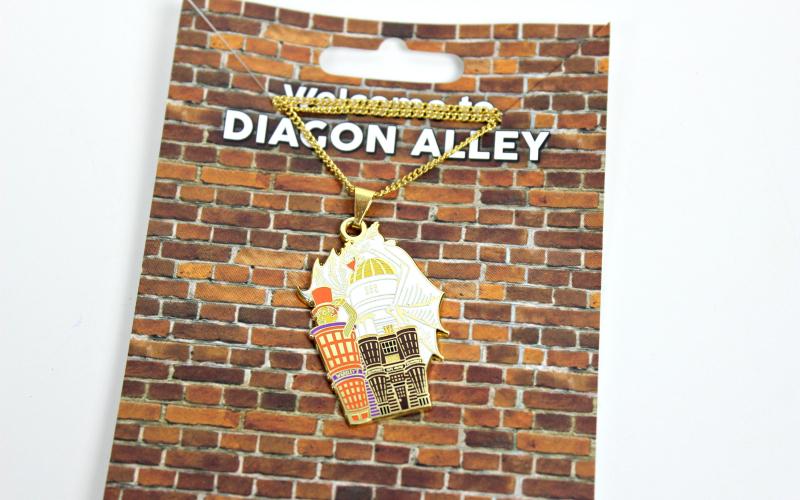Diagon Alley enamel necklace